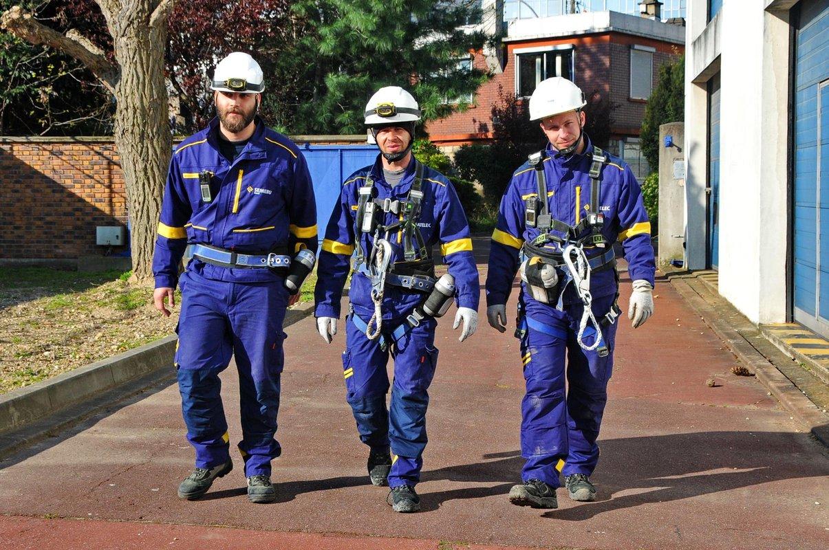 Les ouvriers de Fayat Energie