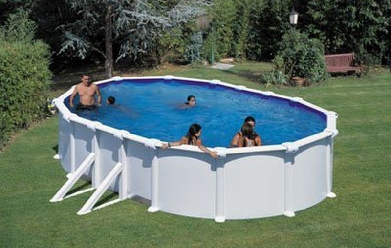 Piscine tubulaire intex ultra silver for Piscine intex tubulaire ovale